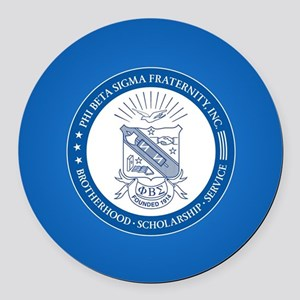 Phi Beta Sigma Shield Round Car Magnet