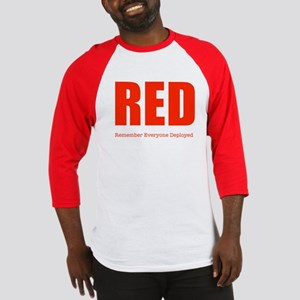 Color Red Men's Baseball Jersey