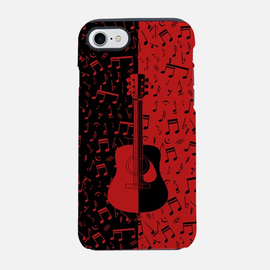 Modern stylish guitar and musi iPhone 7 Tough Case