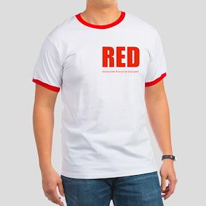 Color Red 2-sided Men's Ringer T-Shirt