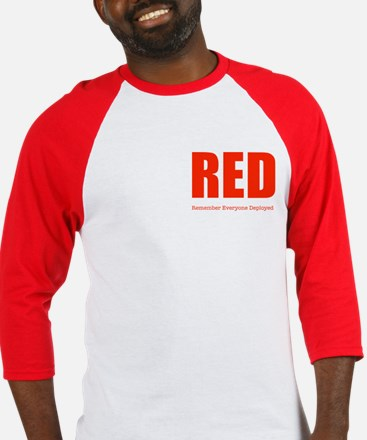 Color Red 2-sided Men's Baseball Jersey