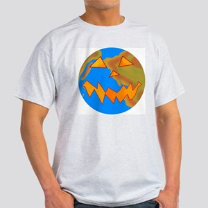 Jack o Lantern Earth Ash Grey T-Shirt