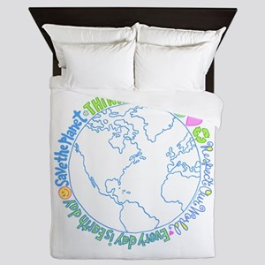 Think Green World Queen Duvet