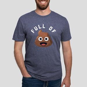 Full of Poop Emoji One Mens Tri-blend T-Shirt
