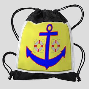 t-shirt anchor Drawstring Bag