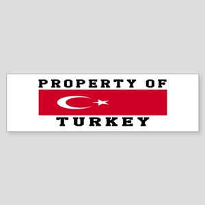 Property Of Turkey Sticker (Bumper)