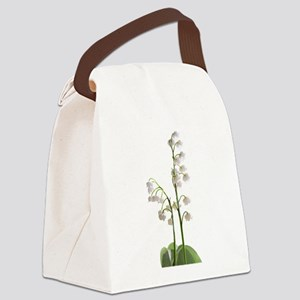 lily of Valley Canvas Lunch Bag