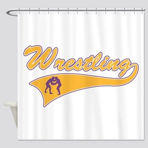 Wrestling 3 Shower Curtain