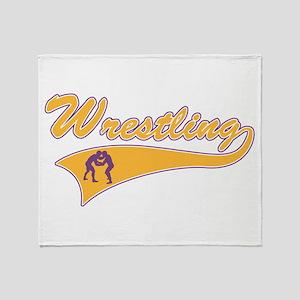 Wrestling 3 Throw Blanket