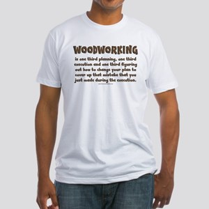 Woodworking Explained Fitted T-Shirt