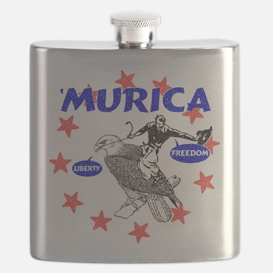 Murica Eagle and Cowboy Flask