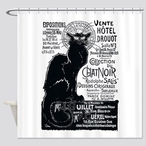 Chat Noir Cat Shower Curtain