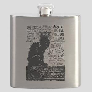 Chat Noir Cat Flask
