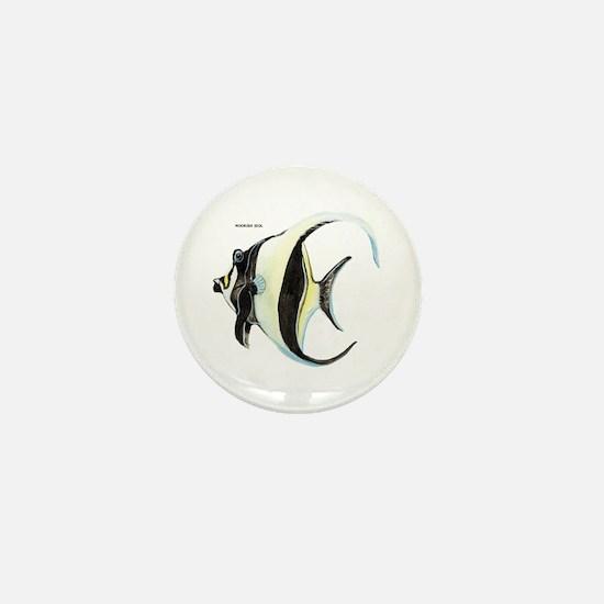 Moorish Idol Fish Mini Button