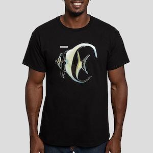 Moorish Idol Fish Men's Fitted T-Shirt (dark)