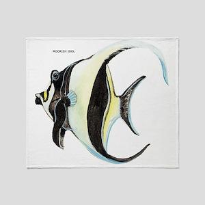 Moorish Idol Fish Throw Blanket