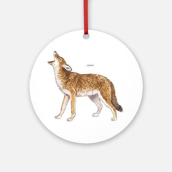 Coyote Wild Animal Ornament (Round)