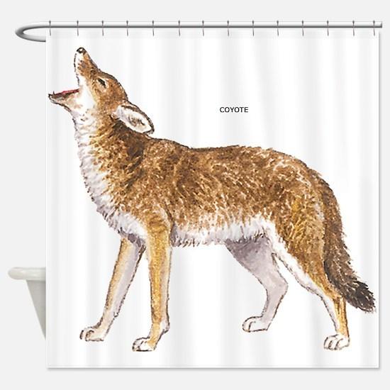 Coyote Wild Animal Shower Curtain