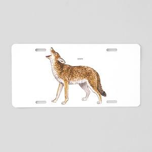 Coyote Wild Animal Aluminum License Plate