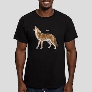 Coyote Wild Animal Men's Fitted T-Shirt (dark)