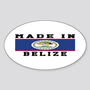 Belize Made In Sticker (Oval)