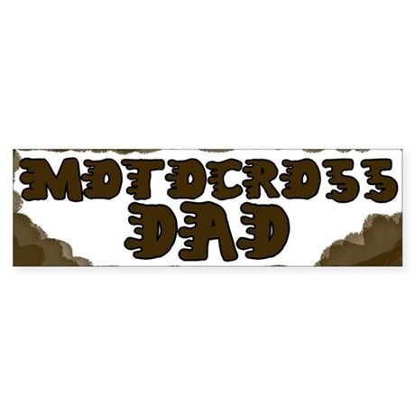 Motocross Dad Bumper Sticker