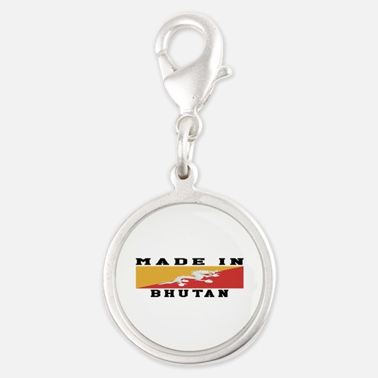 Bhutan Made In Silver Round Charm
