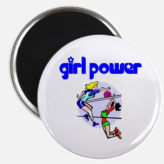 Girl Power Volleyball Magnet