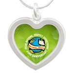 Earth Day Silver Heart Necklace