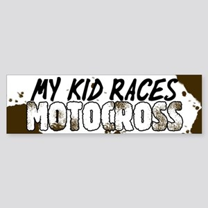My Kid Races Motocross Bumper Sticker