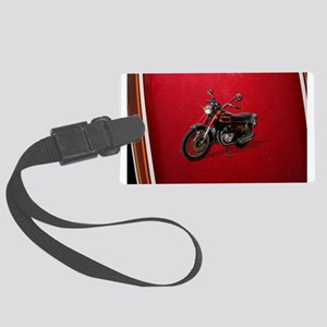 Red Motorcycle Luggage Tag