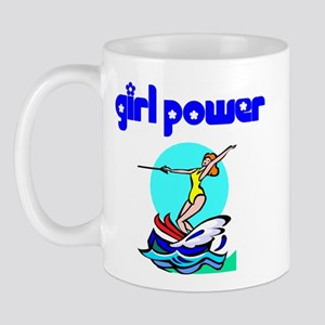 Girl Power Waterskiing Mug