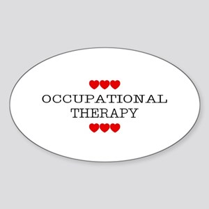 Occupational Therapy - Oval Sticker