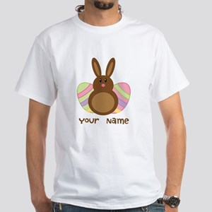 Personalized Easter Chocolate Bunny White T-Shirt