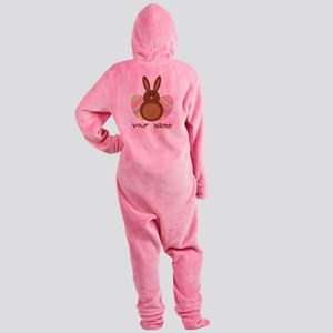 Personalized Easter Chocolate Bunny Footed Pajamas