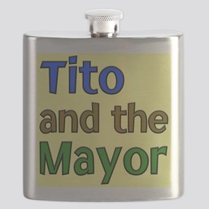 Tito And The Mayor Logo Flask