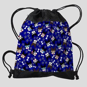 XX Blue Drawstring Bag