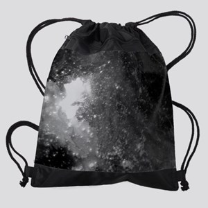 coffee mug galaxy crash Drawstring Bag