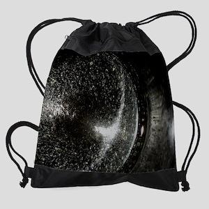 coffee mug event horizon Drawstring Bag