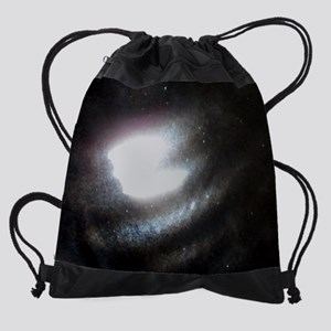 coffee mug fractured comet Drawstring Bag