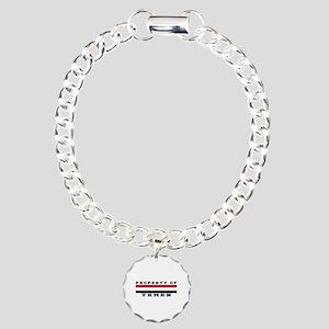 Property Of Yemen Charm Bracelet, One Charm