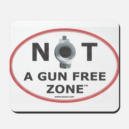NOT A GUN FREE ZONE Mousepad