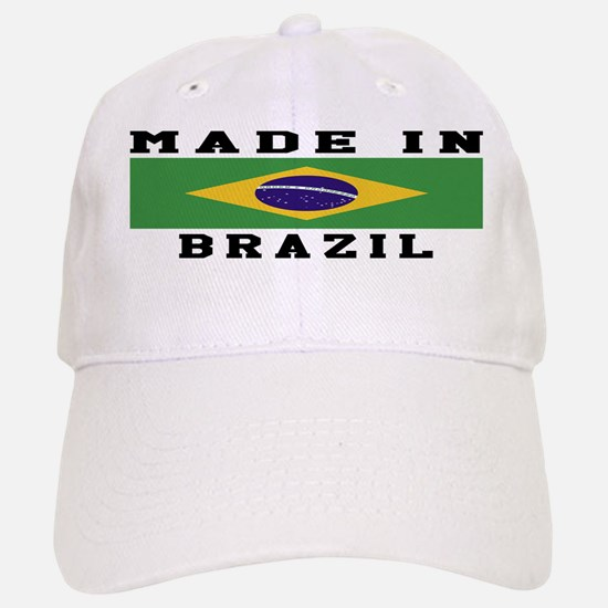 Brazil Made In Baseball Baseball Cap