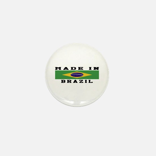 Brazil Made In Mini Button