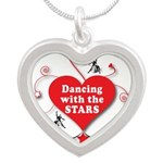 Dancing with the Stars Silver Heart Necklace
