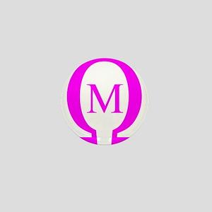 Omega Mu Mini Button