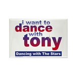 I Want to Dance with Tony Rectangle Magnet (100 pa