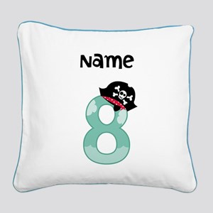 Pirate Eighth Birthday Pillow