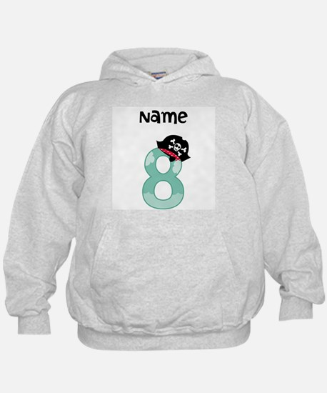 Pirate Eighth Birthday Hoodie