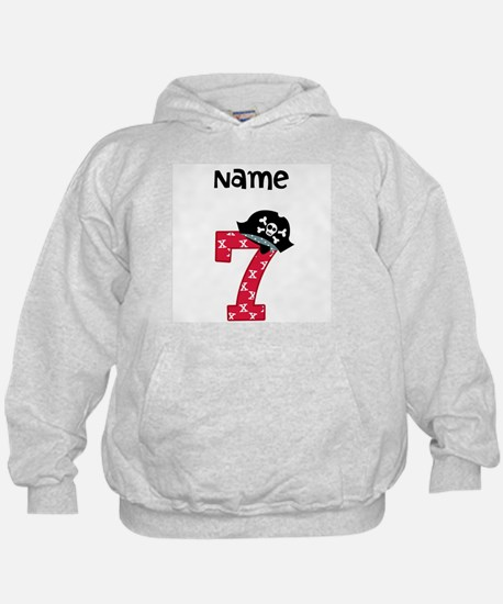 Pirate Seventh Birthday Hoodie
